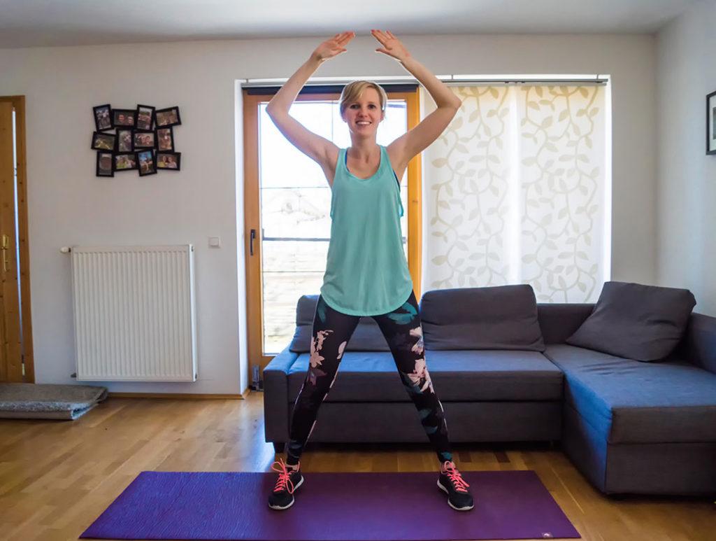 Effektive Po Übungen: Hampelmann