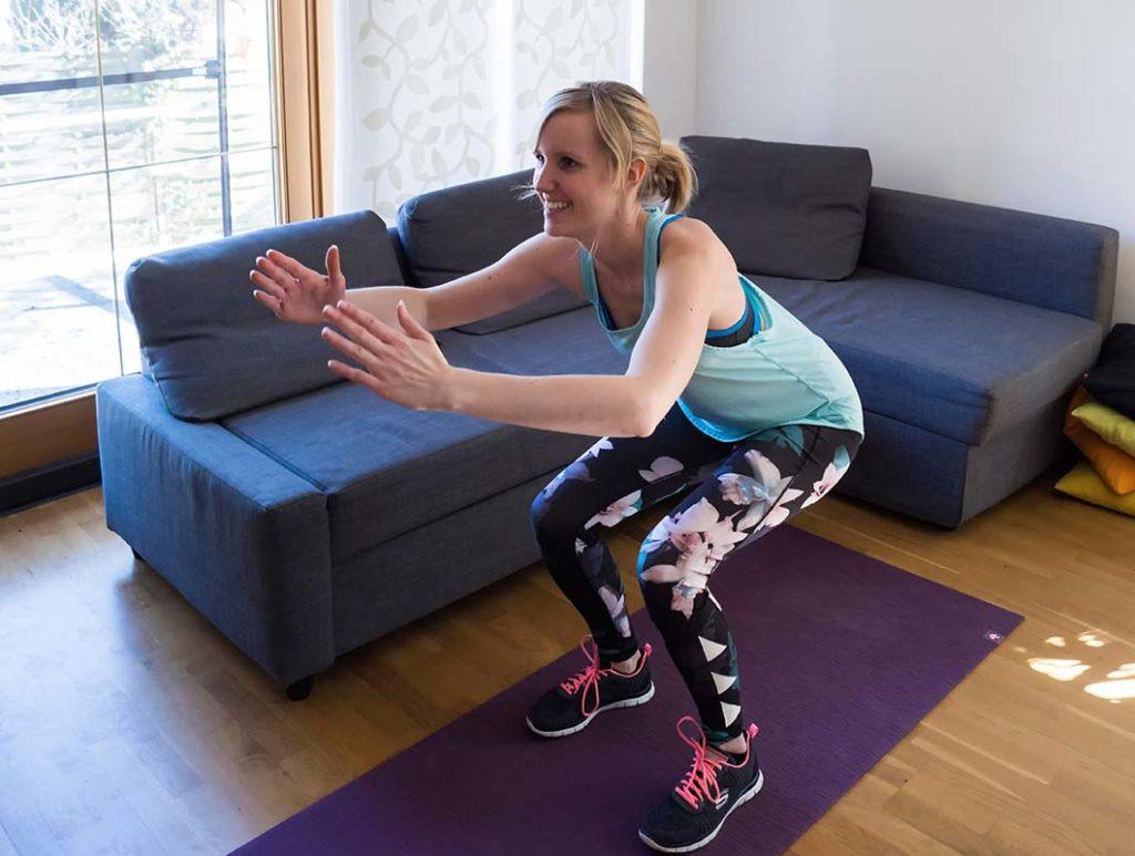 Effektives Po Training mit Kniebeugen