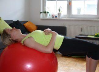 Beckenlift Gymnastikball Po Übungen