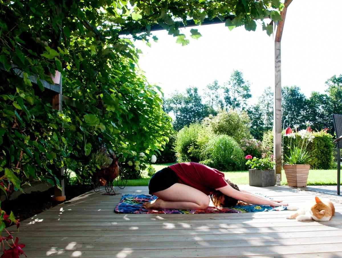 yoga zu zweit partner bungen f r dich und dein haustier we go wild. Black Bedroom Furniture Sets. Home Design Ideas