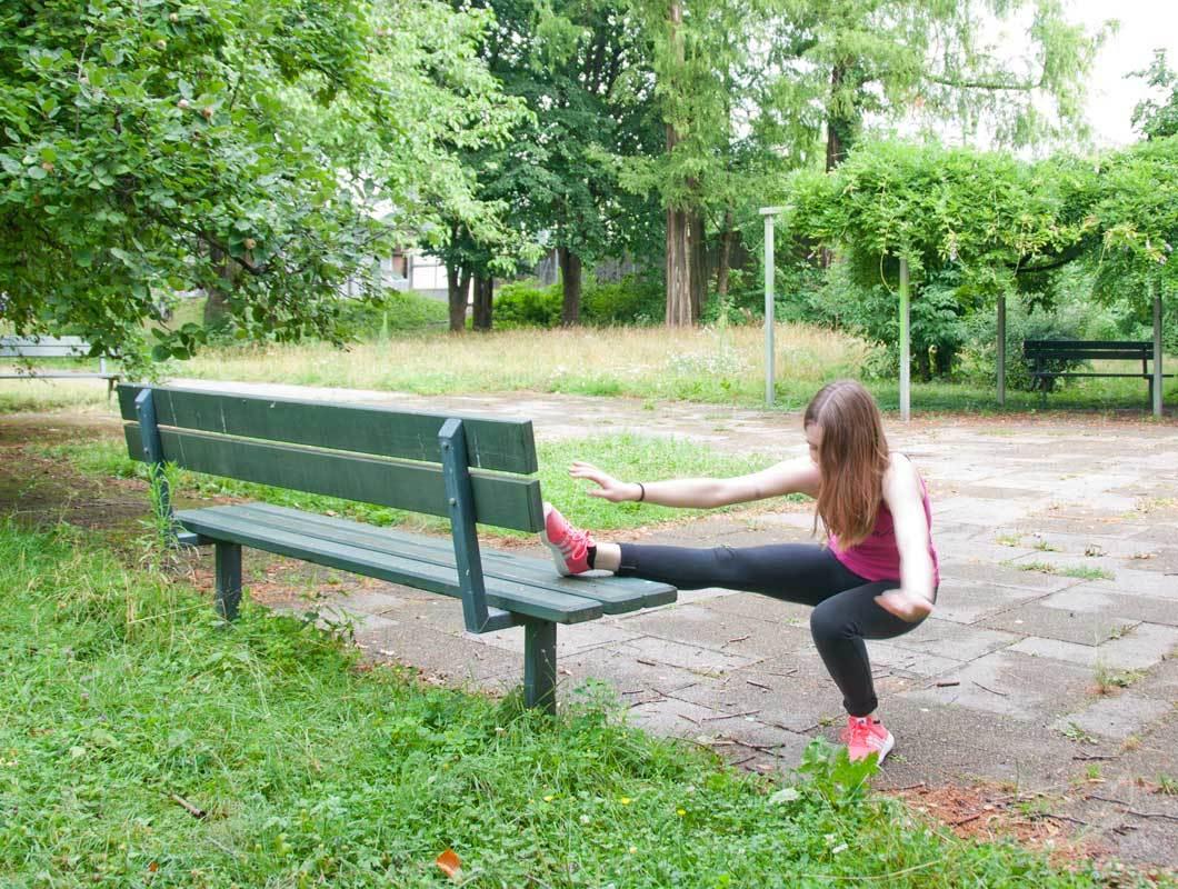 Outdoor Fitness Übungen