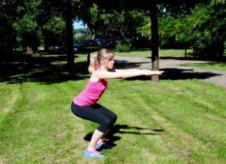 po übungen, squats, kniebeugen