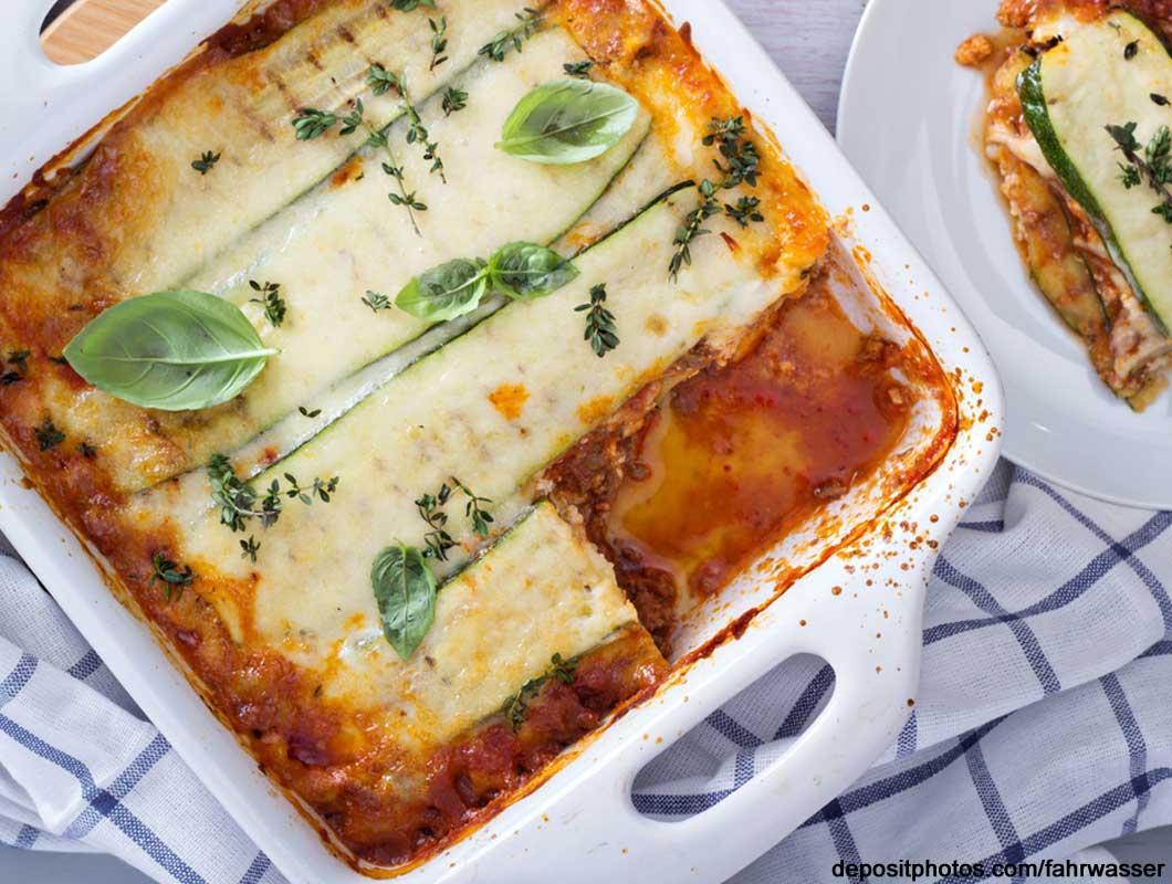 Die Low Carb Zucchini Lasagne ist wirklich spitze
