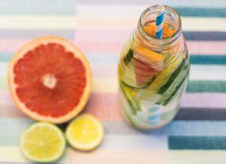Detox-Wasser mit Grapefruit Zitrone Limette Gurke Minze, erstaunliche Dinge über grapefruits