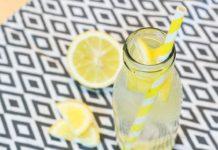 Detox Wasser Zitrone und Ingwer
