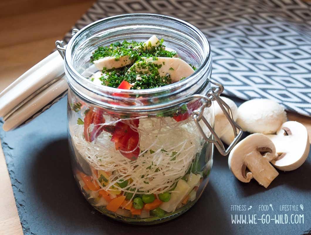 Lunch To Go: Schnelle Suppe im Glas