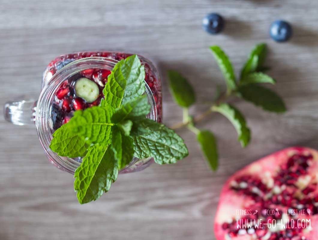granatapfel rezept wasser mit geschmack