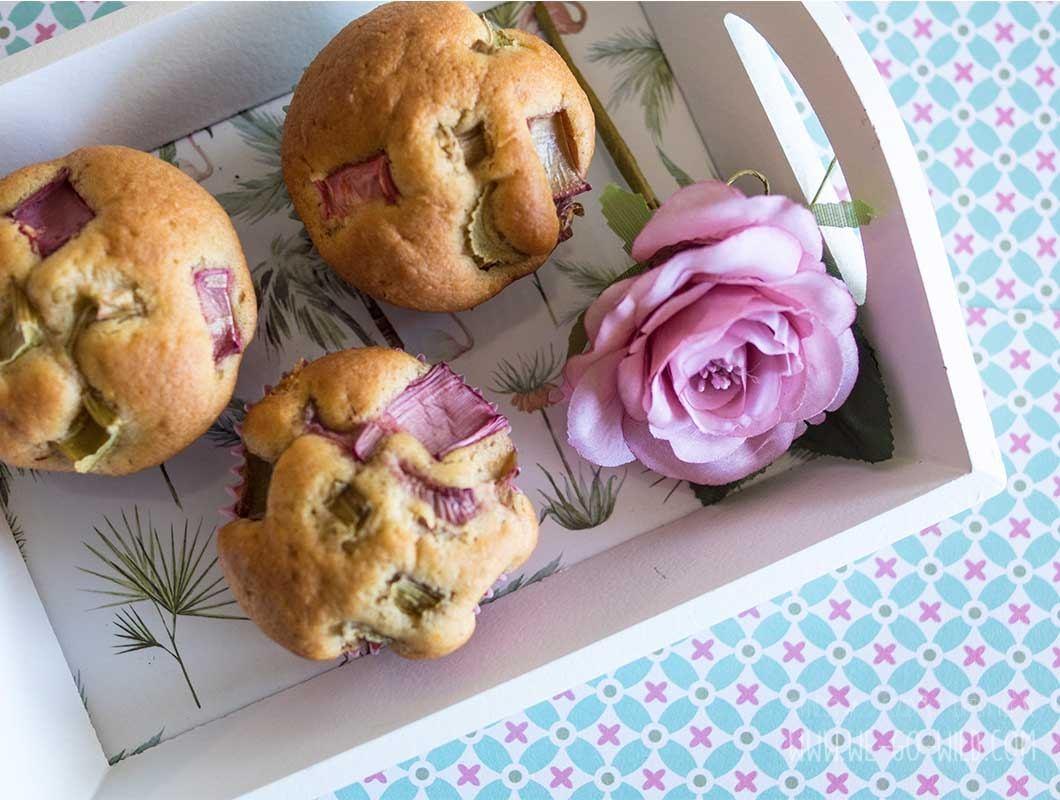 Rhabarber Muffins Rezept