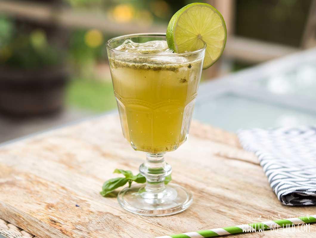 Limonade selber machen Basilikum Limette