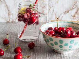 Kirschen, Infused Water, Wasser mit Geschmack, Kirschsaft, Sommergetränk, Sommer, Bauchschmerzen nach Kirschen und Wasser