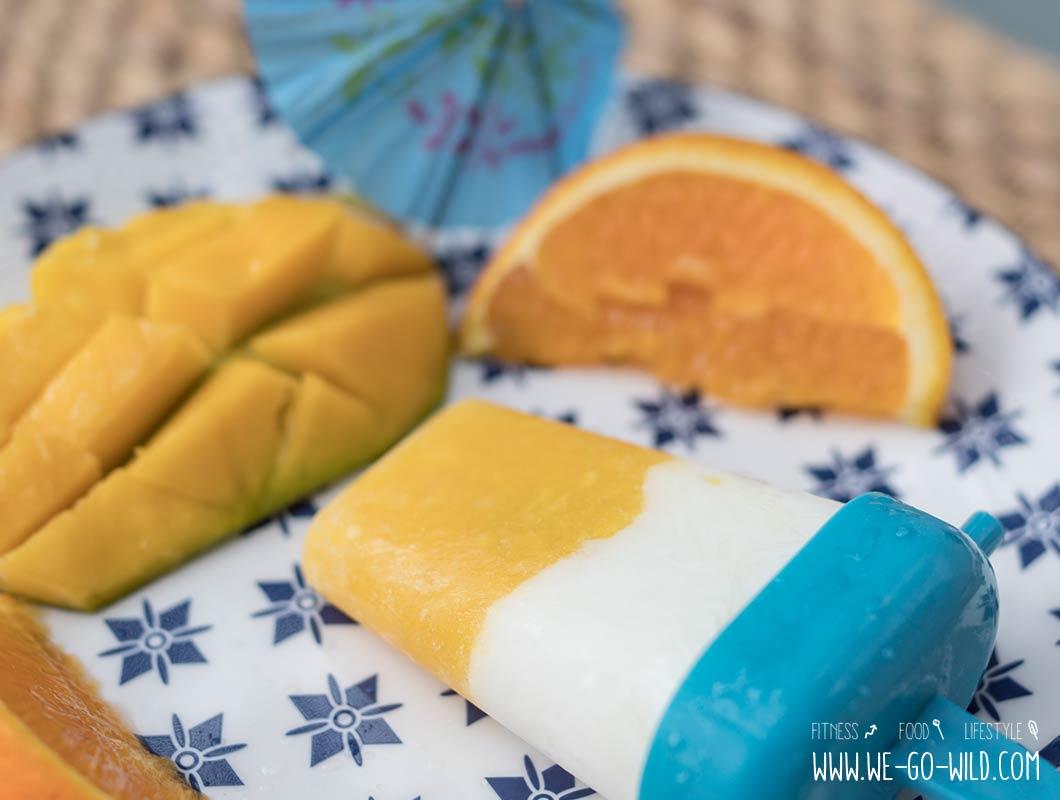 Mango Orange Joghurt Eis selber machen