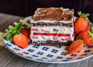 protein erdbeer tiramisu mit quark