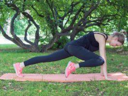 Plank Übung: High Knees