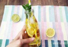 Schwarzes Tee Eistee selber machen mit Zitrone