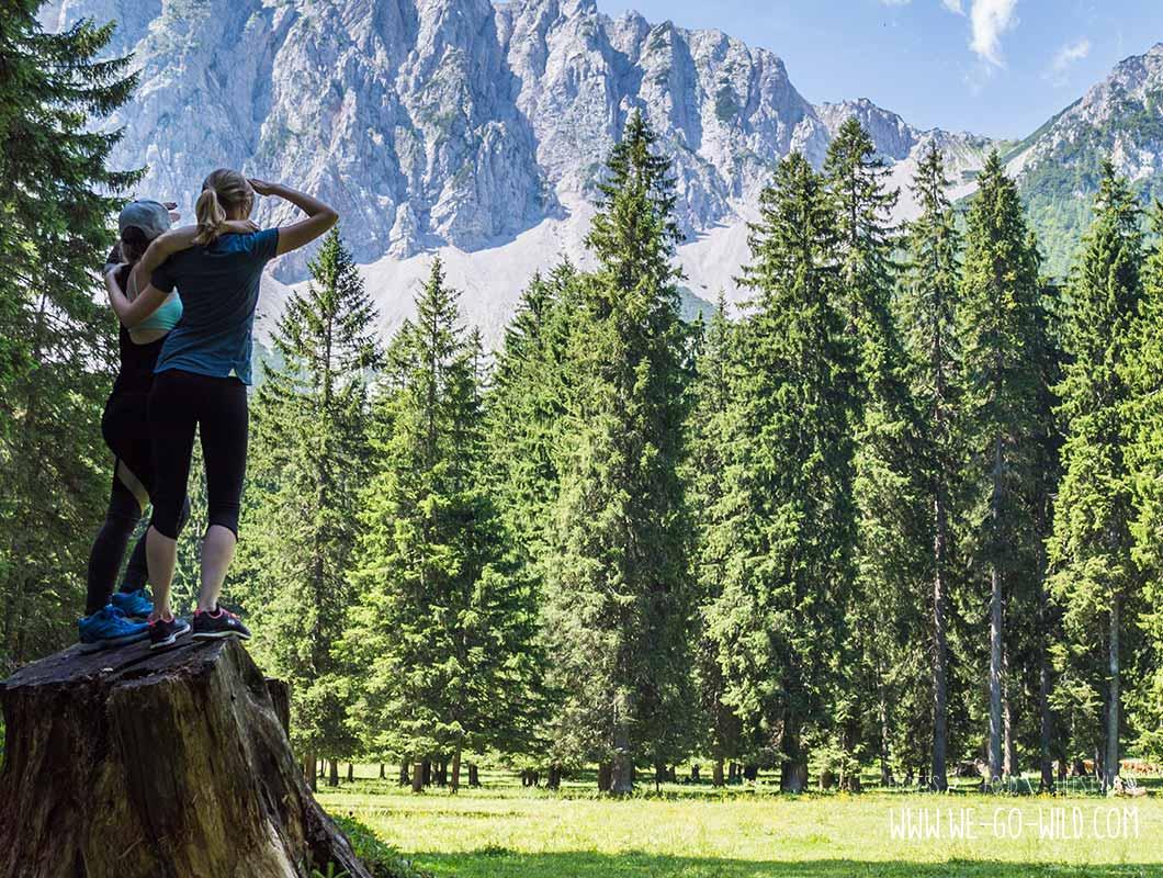 Outdoor Workout beim Wandern