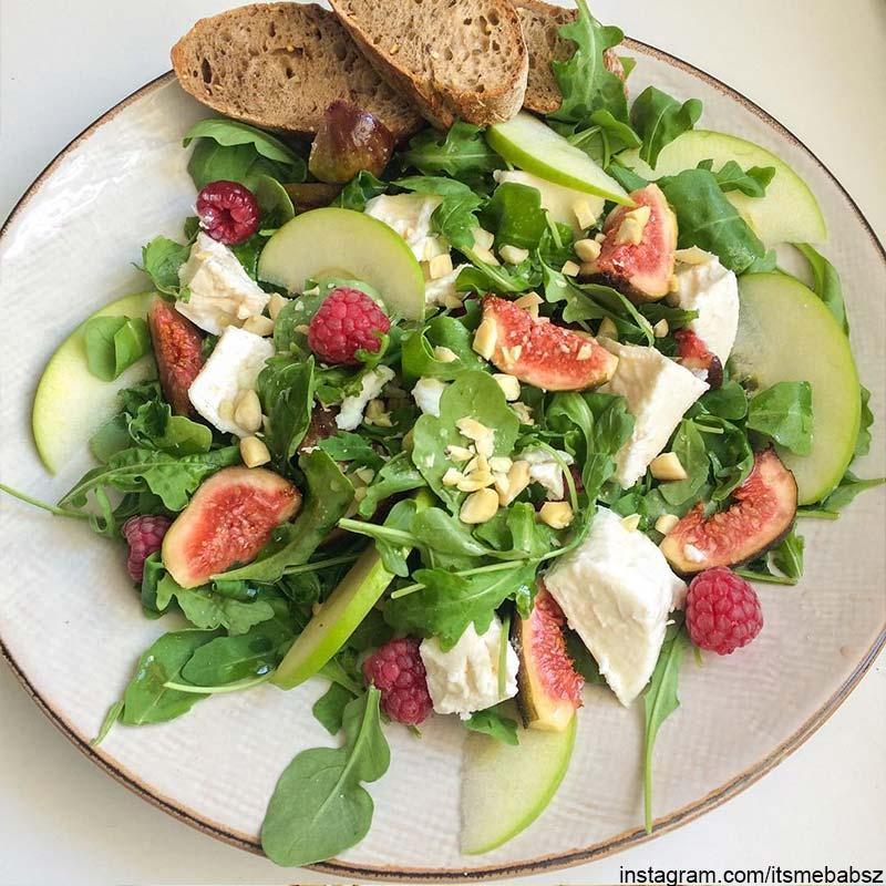 Sommersalat Rezepte mit Feige Himbeere Apfel