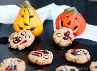 Halloween Kekse mit Chia und Kokosmehl