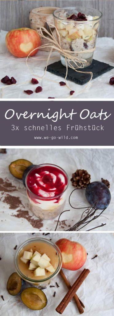 3 leckere herbstliche Overnight Oats Rezepte: Gesundes Frühstück aus dem Kühlschrank