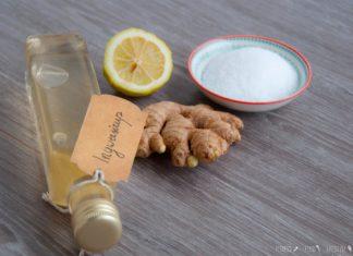 Ingwersirup selber machen mit Birkenzucker und Zitrone