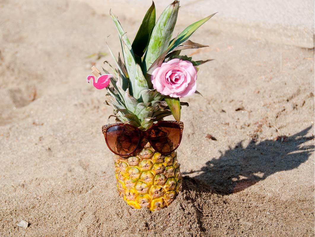 Flacher Bauch über Nacht Trick Ananas