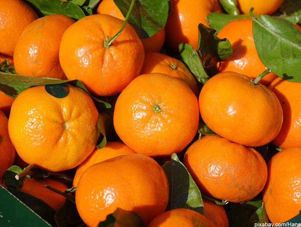 Mandarinen sind Lebensmittel mit wenig Kalorien
