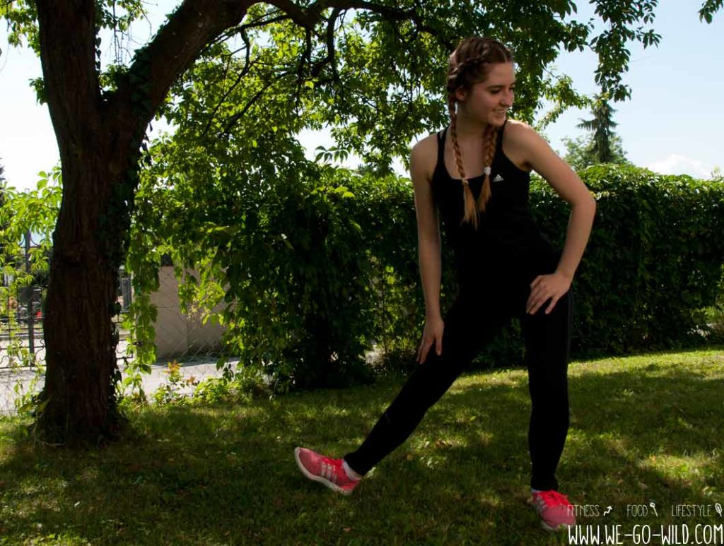 Cool Down Abwärm Übung für die Beine