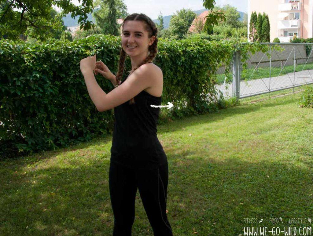 Torso Twist als effektive Cool Down Übung für Schultern