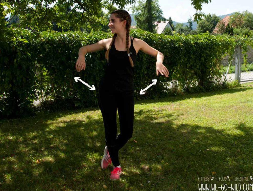 Cool Down für Arme und Beine
