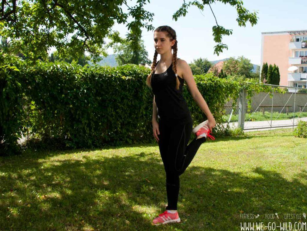 Cool Down Übung für die Beine