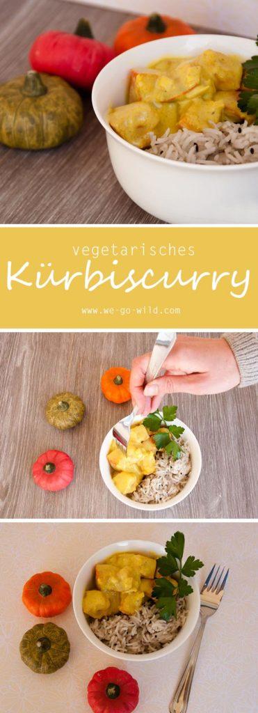 Curry vegetarisch mit Kürbis und Kokosmilch