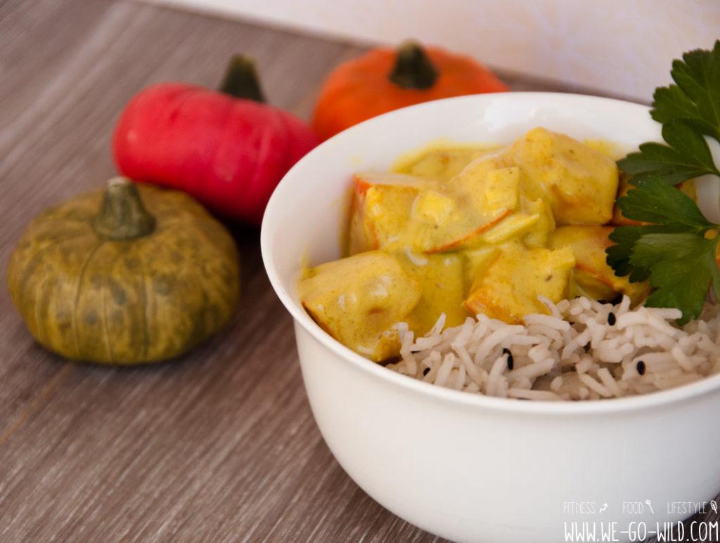 Kürbis Curry vegetarisch mit Kokosmilch