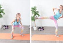 Beintraining zuhause: Squats (Kniebeugen) mit Kick