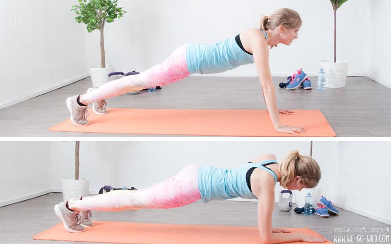 Bauch Beine Po Übungen: Planks