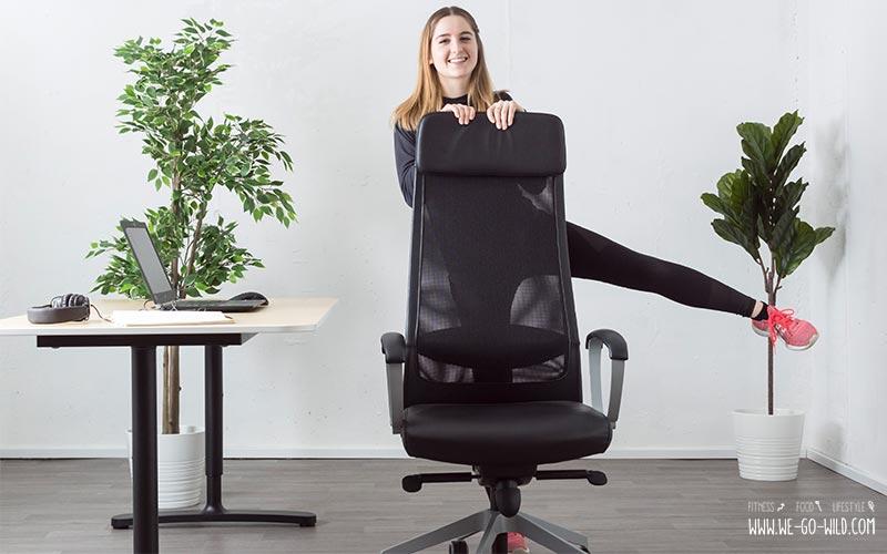 Po Übungen fürs Büro
