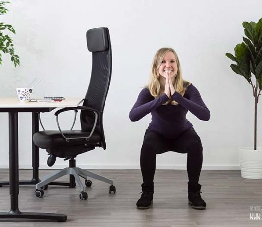 30 tage squat challenge im büro