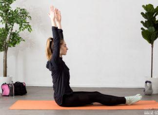 Core Pilates Übungen für einen flachen Bauch