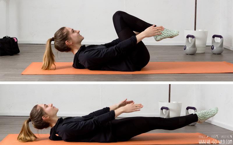 core pilates workout mit 11 bungen zu einem trainierten. Black Bedroom Furniture Sets. Home Design Ideas