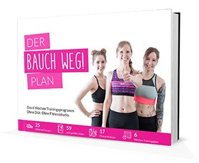 Bauch weg Trainingsplan für einen flachen Bauch