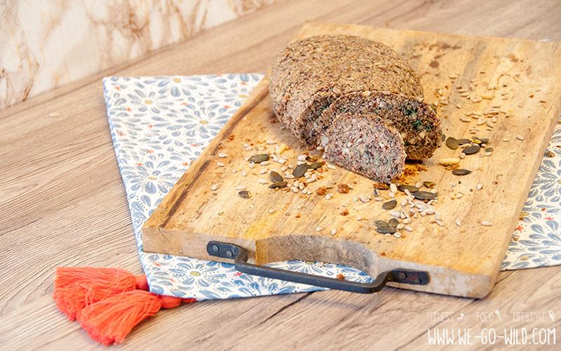 Veganes Eiweißbrot Rezept Low Carb Brot ohne Eier und Quark