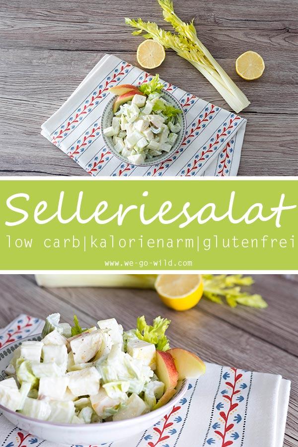 Dieser leckere und schnelle Staudensellerie Salat mit Apfel und Saurer Sahne hilft beim Abnehmen! Er schmeckt sehr erfrischend und ist das perfekte Low Carb Abendessen mit wenig Kalorien. #lowcarb #abnehmen #salat
