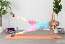 Am Oberschenkel abnehmen mit seitlichen Planks