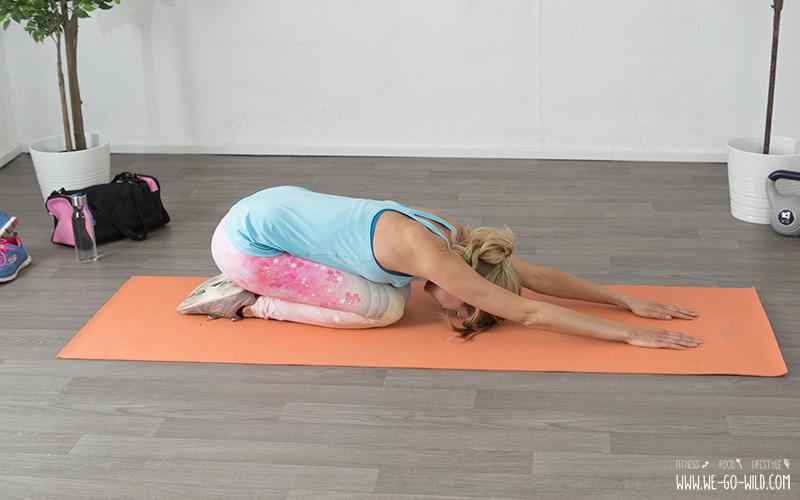 Hexenschuss Übung zum vorbeugen von Rückenschmerzen Childs Pose