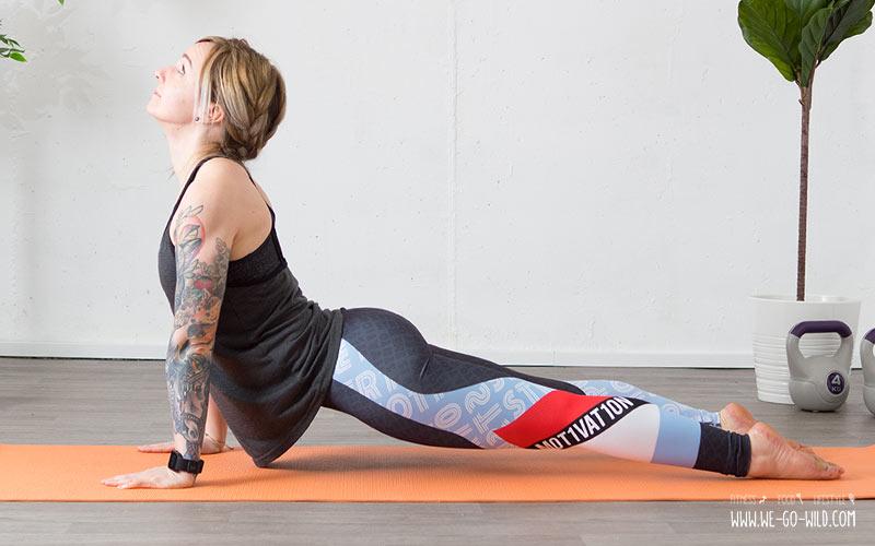Yoga am Morgen Energieyogaübung: Der aufschauende Hund
