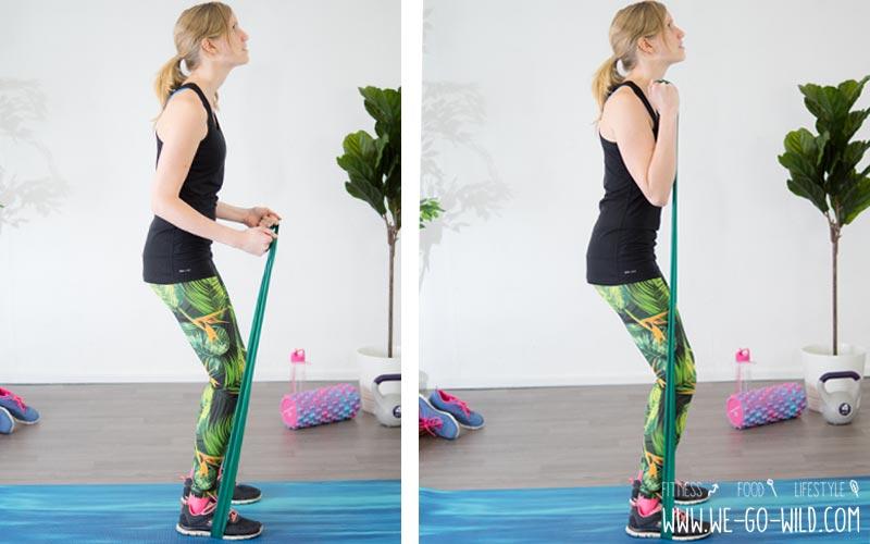 17 effektive Theraband Übungen Gymnastikband Workout für