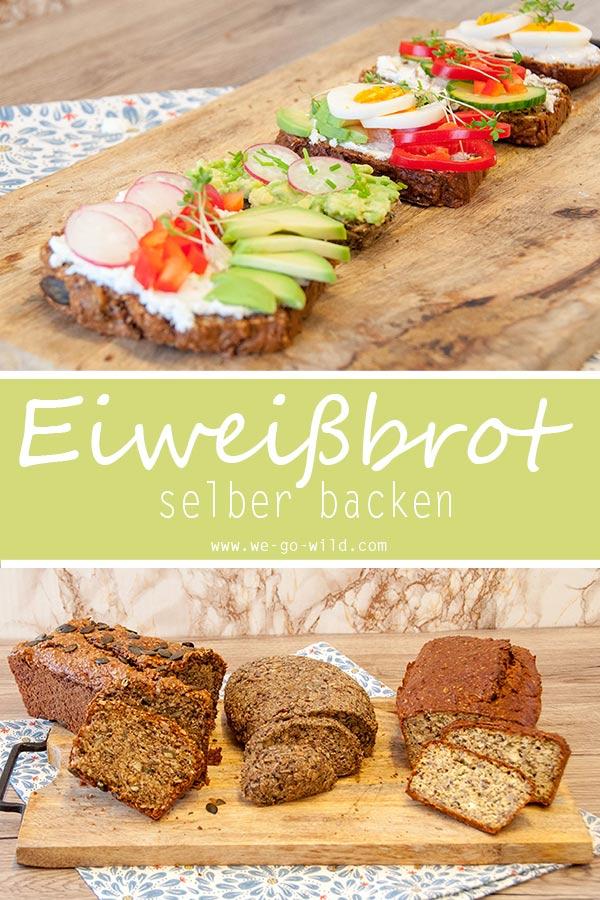 Eiweissbrot Rezepte ohne Mehl und Hefe: So kannst du dir dein Fitnessbrot ganz einfach zuhause backen. Wir lieben unser Low Carb Brot! #fitness #lowcarb #brot