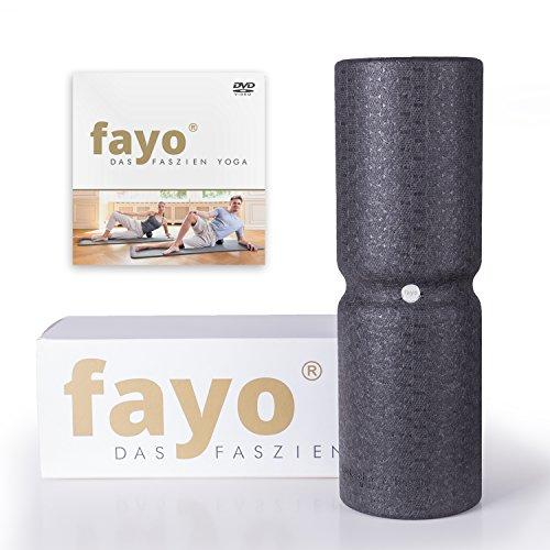 FAYO Faszienrolle mit Umlaufrille