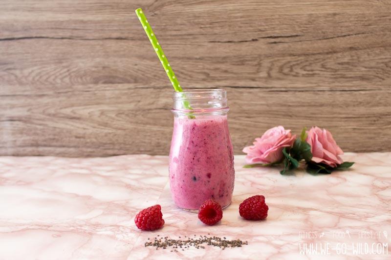 Shake zum Abnehmen mit Beeren und roter Beete