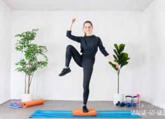Balance Pad Übungen: High Knees