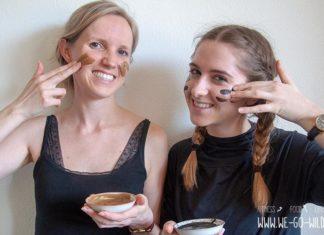 Selbst gemachte Gesichtsmaske gegen Pickel